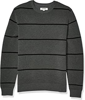 Goodthreads Men's Soft Cotton Ottoman Stitch Crewneck Sweater