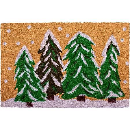 """Calloway Mills 122251729 Winter Wonderland Doormat, 17"""" x 29"""", Multicolor"""