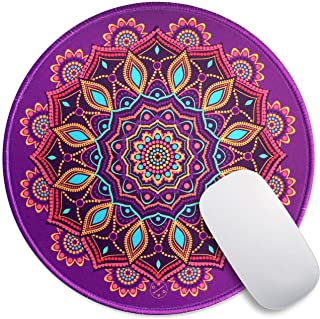 Oriday Customized Round Gaming Mouse Pad, Aesthetic, Stylish Circular Mousepad with Stitched Edge for Desk, Work, Home Off...