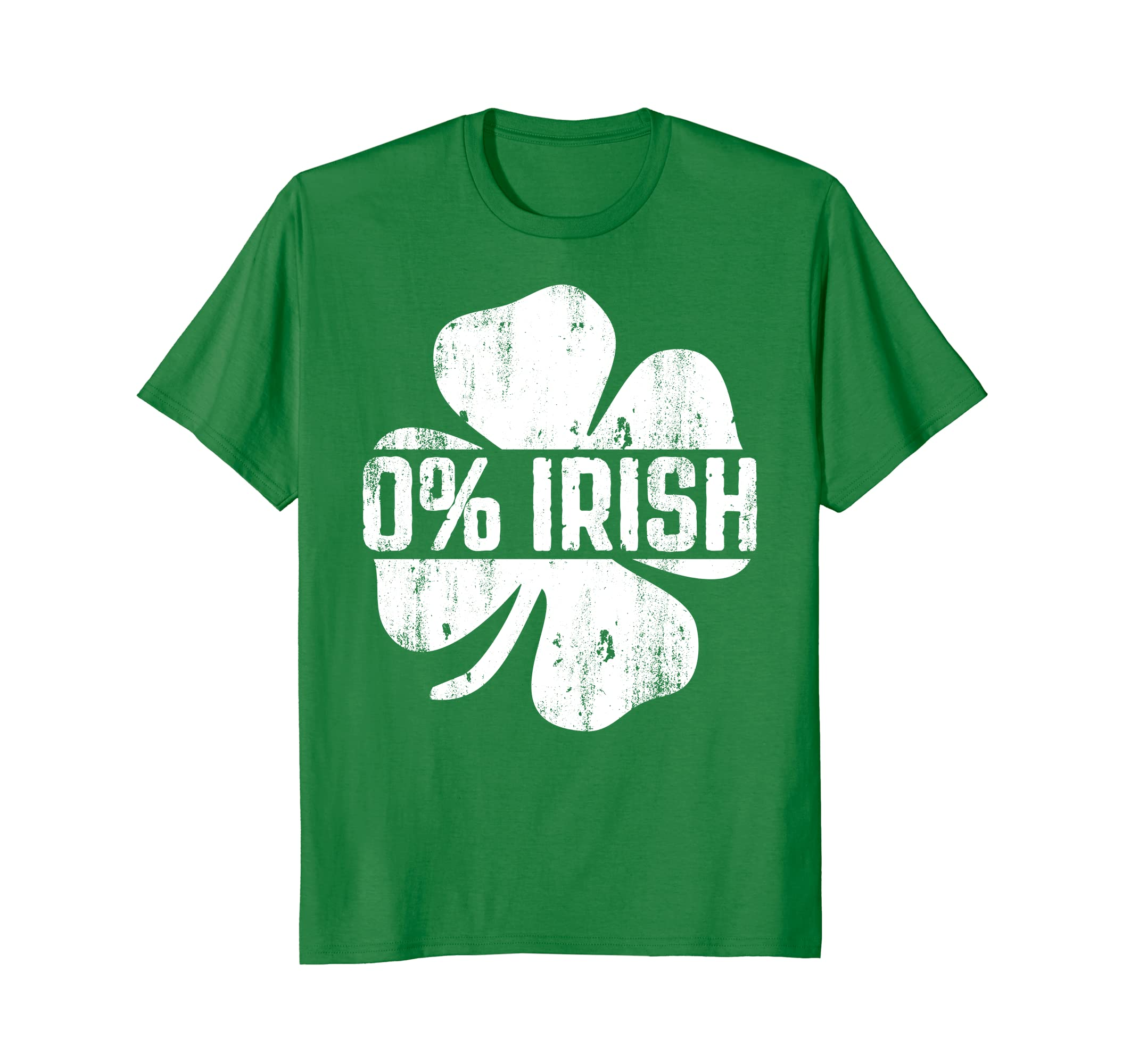 0% Irish T-Shirt Vintage St. Patrick Day Gift Shirt-TH