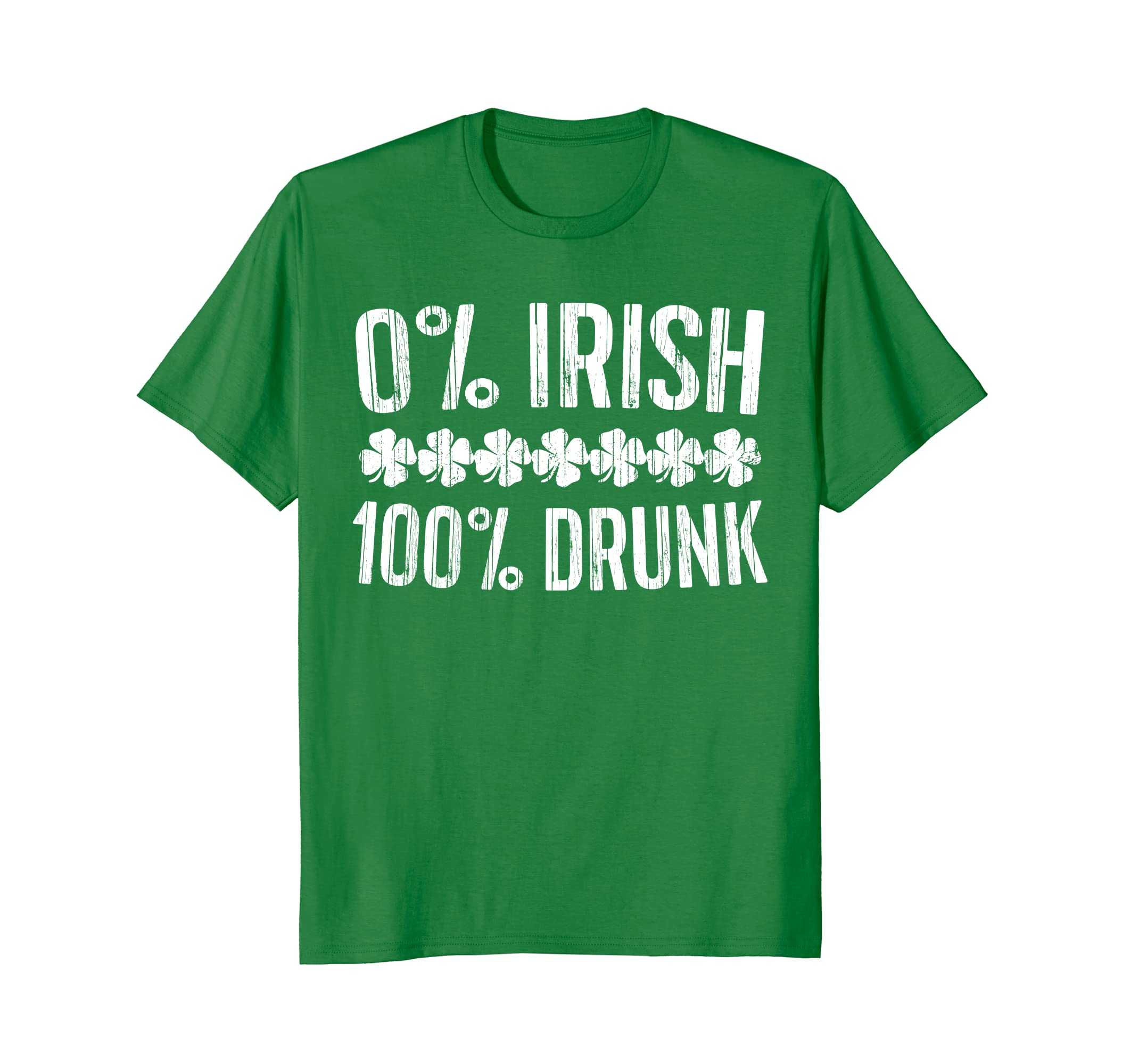 0% Irish 100% Drunk T-Shirt Vintage St. Patrick Day Gift-TH