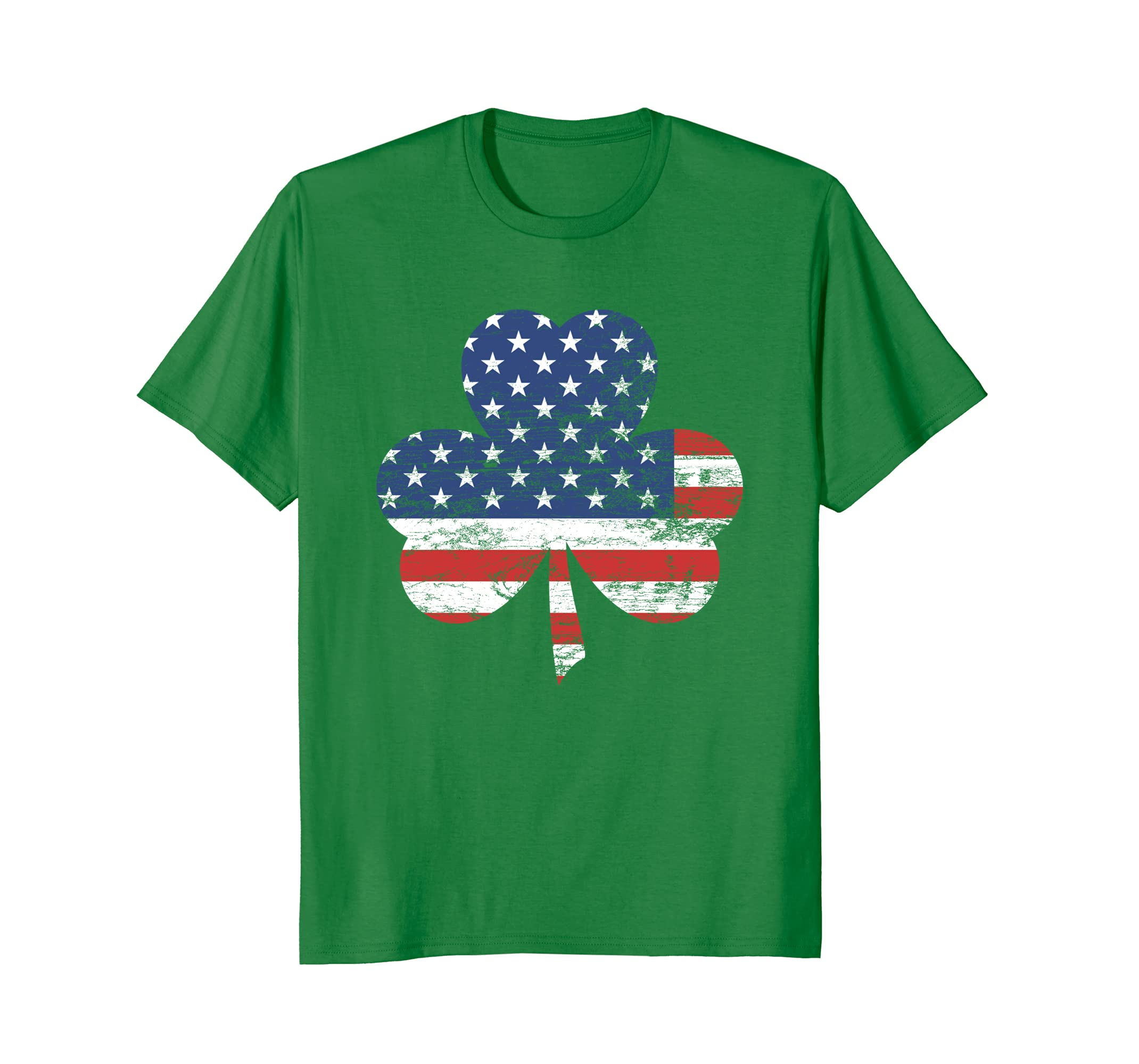 American Flag Shamrock Police Soldiers Saint Patricks Shirt-TH