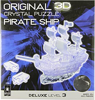 Original 3D Crystal Puzzle - Deluxe Pirate Ship Clear