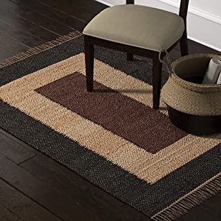 Amazon Brand – Stone & Beam Modern Jute Area Rug, 4 x 6 Foot, Nuetral Multicolor