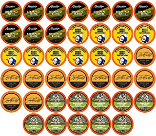 Two Rivers Coffee Light Roast Coffee Pods, Compatible with 2.0 Keurig K-Cup Brewers, Assorted Variety Sampler Pack, 40 Count