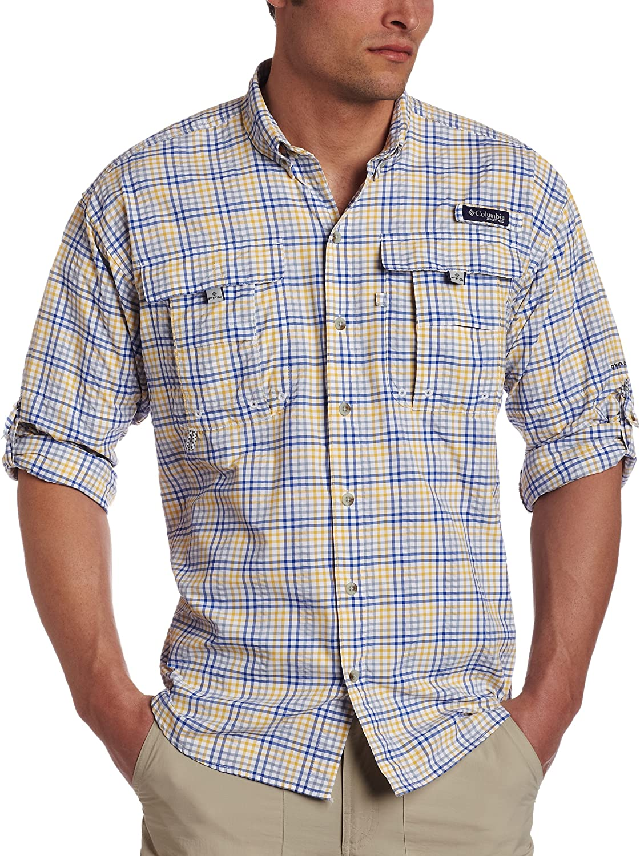 Columbia Men's Super Bahama Max 77% OFF price Sleeve Long Shirt