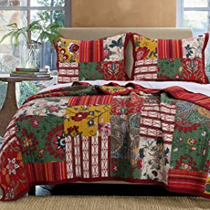Greenland Home Arcadia Quilt Set, 2-Piece Twin, Multi