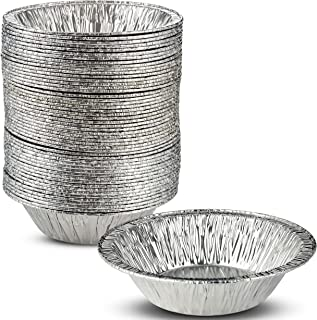 """50 Pieces - 5 Inch Disposable Aluminum Foil Tart/Pie Pan 1 1/4"""" Deep, Great for Serving and Transporting without the Mess ..."""