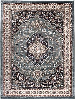 Grande Tapis Du0027Orient   TURQUOISE   Motif Persan Traditionnel Et Oriental    Tapis De