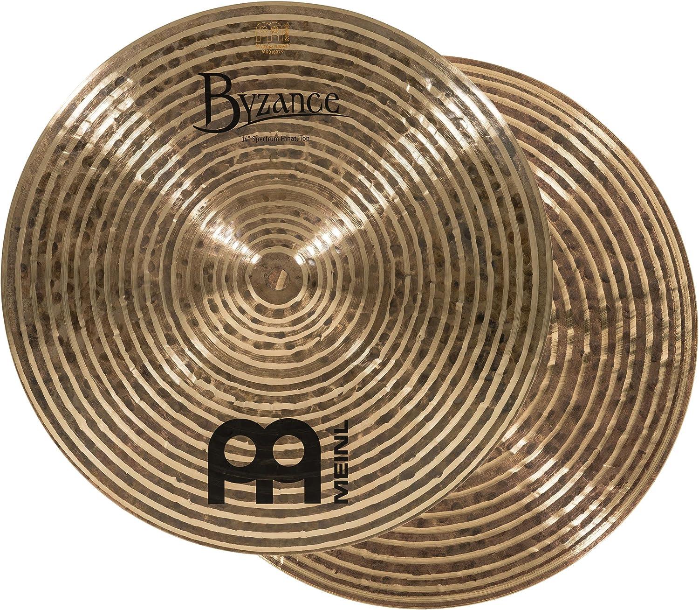 /— MADE IN TURKEY /— Hand Hammered B20 Bronze Meinl Cymbals Byzance 14 Brilliant Serpents Hihats B14SH-B Hi hat 2-YEAR WARRANTY inch