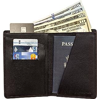 b7899355a558 RFID Blocking Passport Holder Travel Wallet - Genuine Crazy Horse Leather
