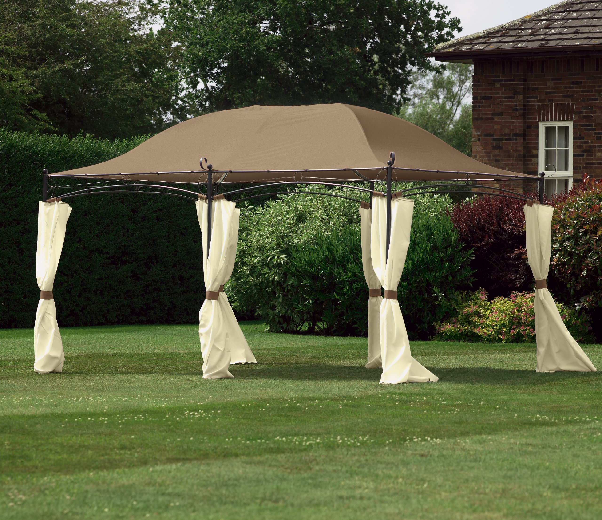 Camelot Regency Grand Gazebo - Carpa (4 m): Amazon.es: Jardín