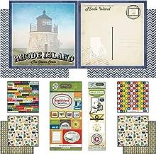 Scrapbook Customs Themed Paper and Stickers Scrapbook Kit, Rhode Island Vintage
