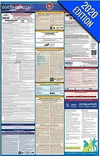 2020 North Dakota Labor Law Poster – State, Federal, OSHA Compliant – Single Laminated Poster