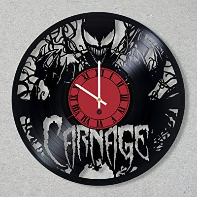 Vinyl Record Wall Clock Carnage Venom Cletus Kasady Supervillain decor unique gift ideas for friends him