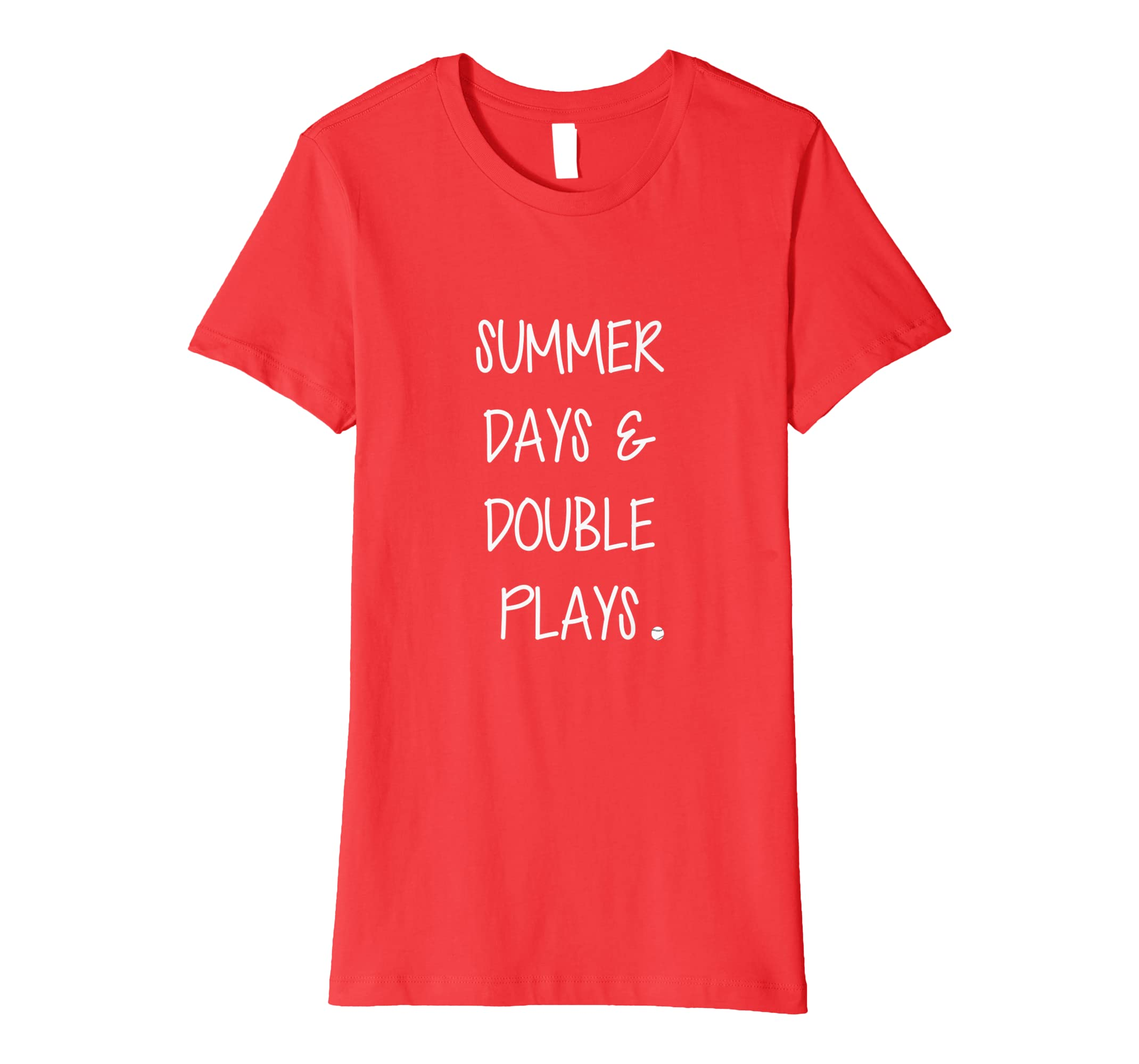 13bcb08dd2a2 Amazon.com  Summer Days Double Plays Baseball Fan Shirt  Clothing