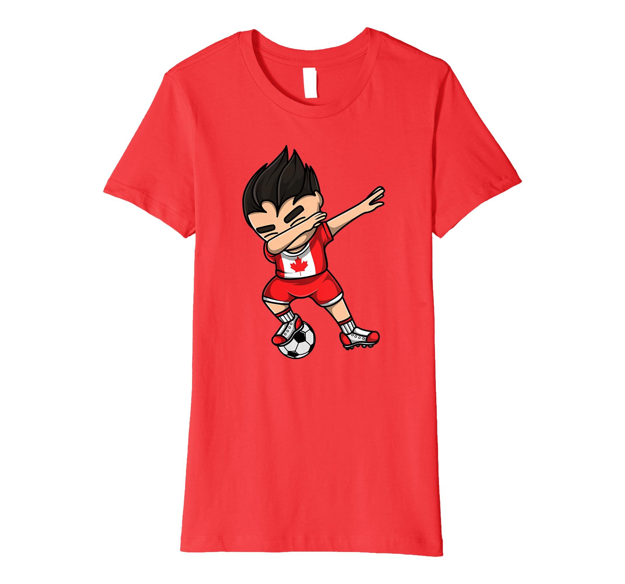 Amazon.com  Dabbing Soccer Boy Canada Jersey Shirt - Canadian Football   Clothing 84ad4cebf