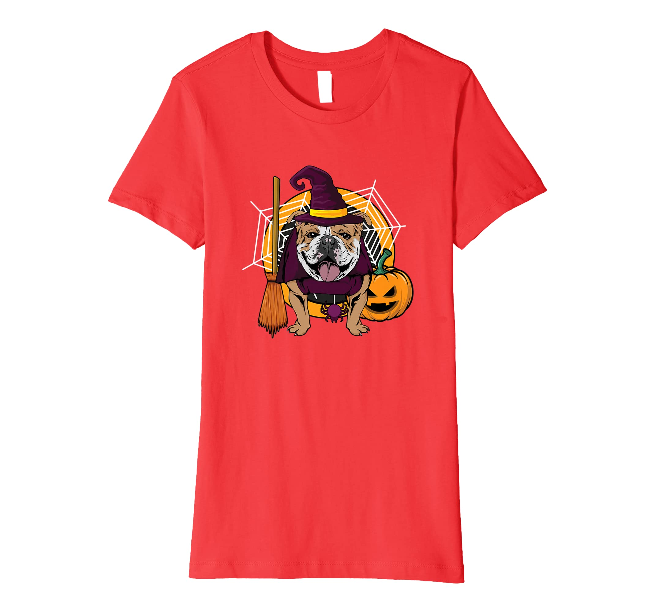Amazon.com: Witch Bulldog Dog T Shirt Costume For Spooky Halloween: Clothing