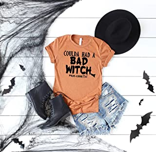 Coulda Had A Bad Witch #Non-Commital Shirt Bad Witch Halloween Shirts Bad Witch Tee Cute Halloween Outfit 100% Witch Shirt Bad Witches Shirt