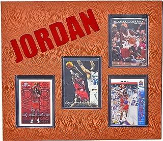 Michael Jordan Basketball Card Plaque Chicago Bulls Wall Art Assorted (4) Cards 10.5