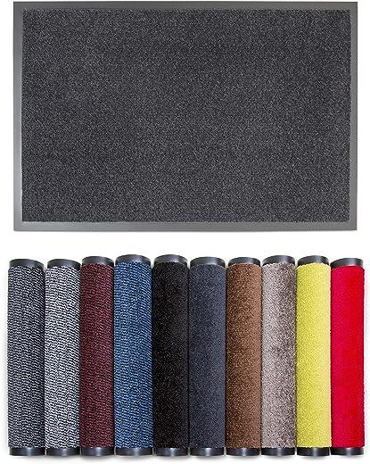 Carpet Diem Rio C Schmutzfangmatte – 5 Größen – 10 Farben Fußmatte mit äußerst starker Schmutz und Feuchtigkeitsaufnahme – Sauberlaufmatte in…
