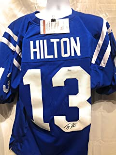 TY Hilton Indianapolis Colts Signed Autograph Blue Custom Jersey JSA Witnessed Certified