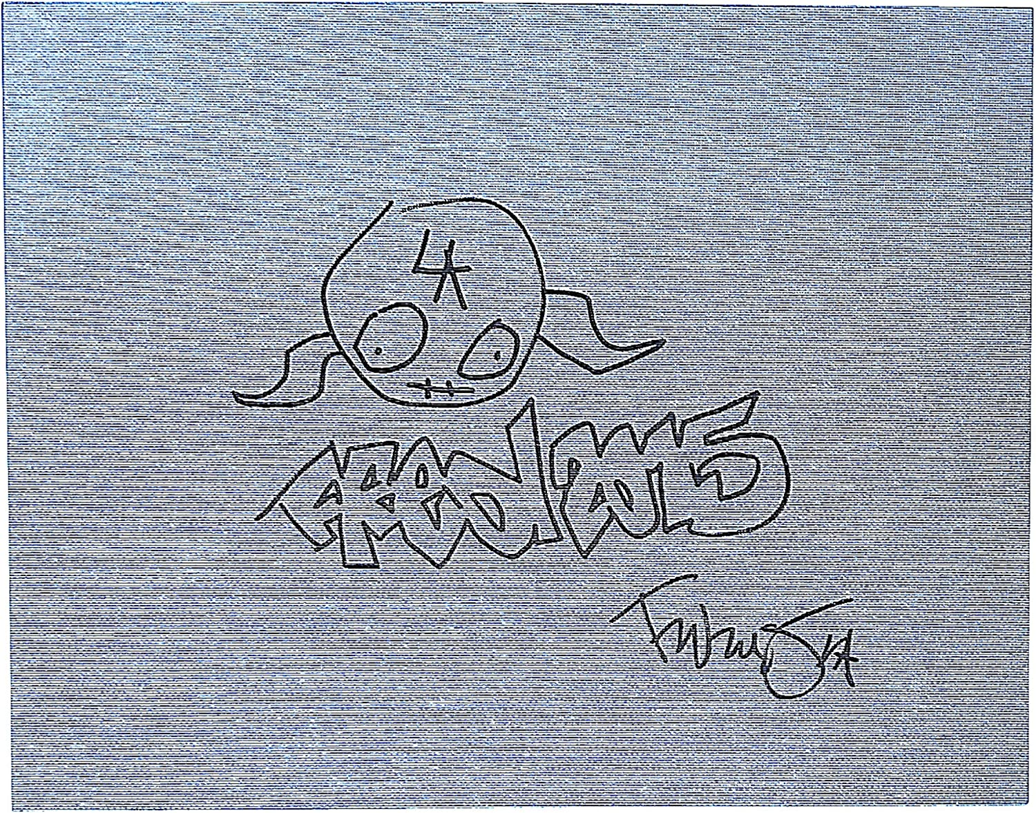 Fred Durst of Limp Bizkit Signed Autographed Artwork 1 Surprise price on Sketch Low price