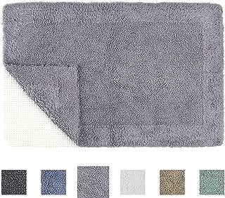 TOMORO Non-Slip Bathroom Rug Super Absorbent Soft Cotton - Luxury Hotel Linens Reversible Non-Skid Door and Bath Mat with Non-Slip Rug Pad
