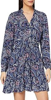 Joe Browns Women's Shirred Neck Dress Tunic Shirt, A-Navy Multi