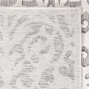 "My Texas House by Orian Indoor/Outdoor Lady Bird Runner, 1'11"" x 7'6"", Natural/Grey"