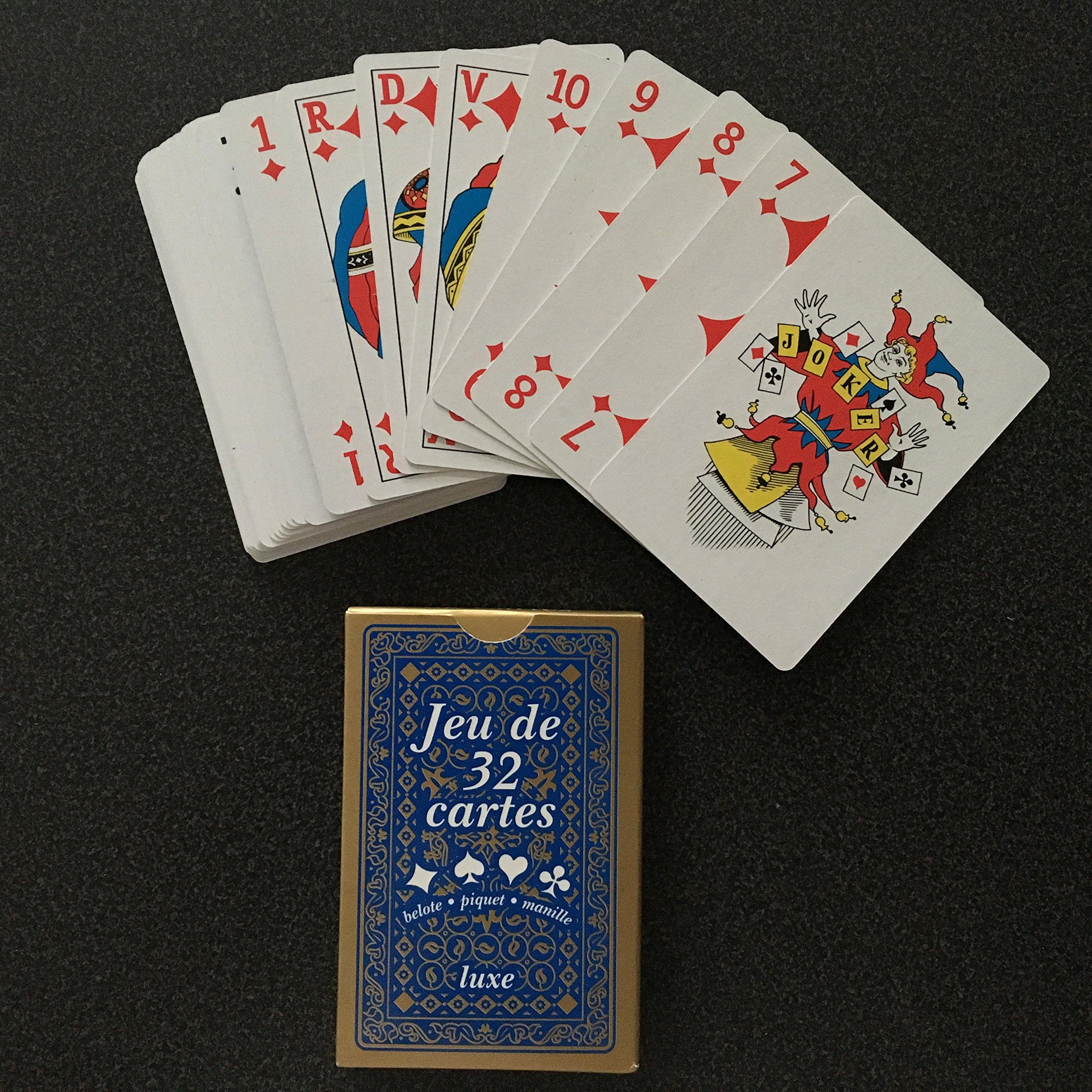 Equilibre Et Aventure 1 Jeu De 32 Cartes Poker Belote Piquet Manille Coinche Bataille Menteur Soufflette Big Up Jeu Des Chevaliers Maitre Du Jeu Biskit Etc Amazon Fr Jeux Et Jouets