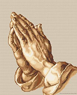 praying hands cross stitch