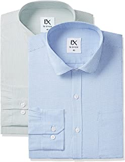 Excalibur by Unlimited Men's Formal Shirt (Pack of 2)(Colors & Print May Vary)