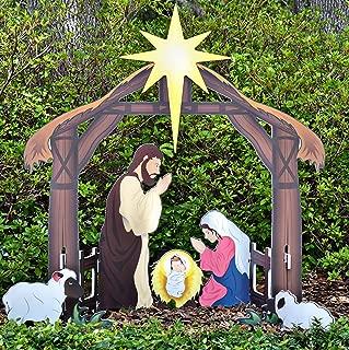Teak Isle Holy Night Printed Outdoor Nativity Set