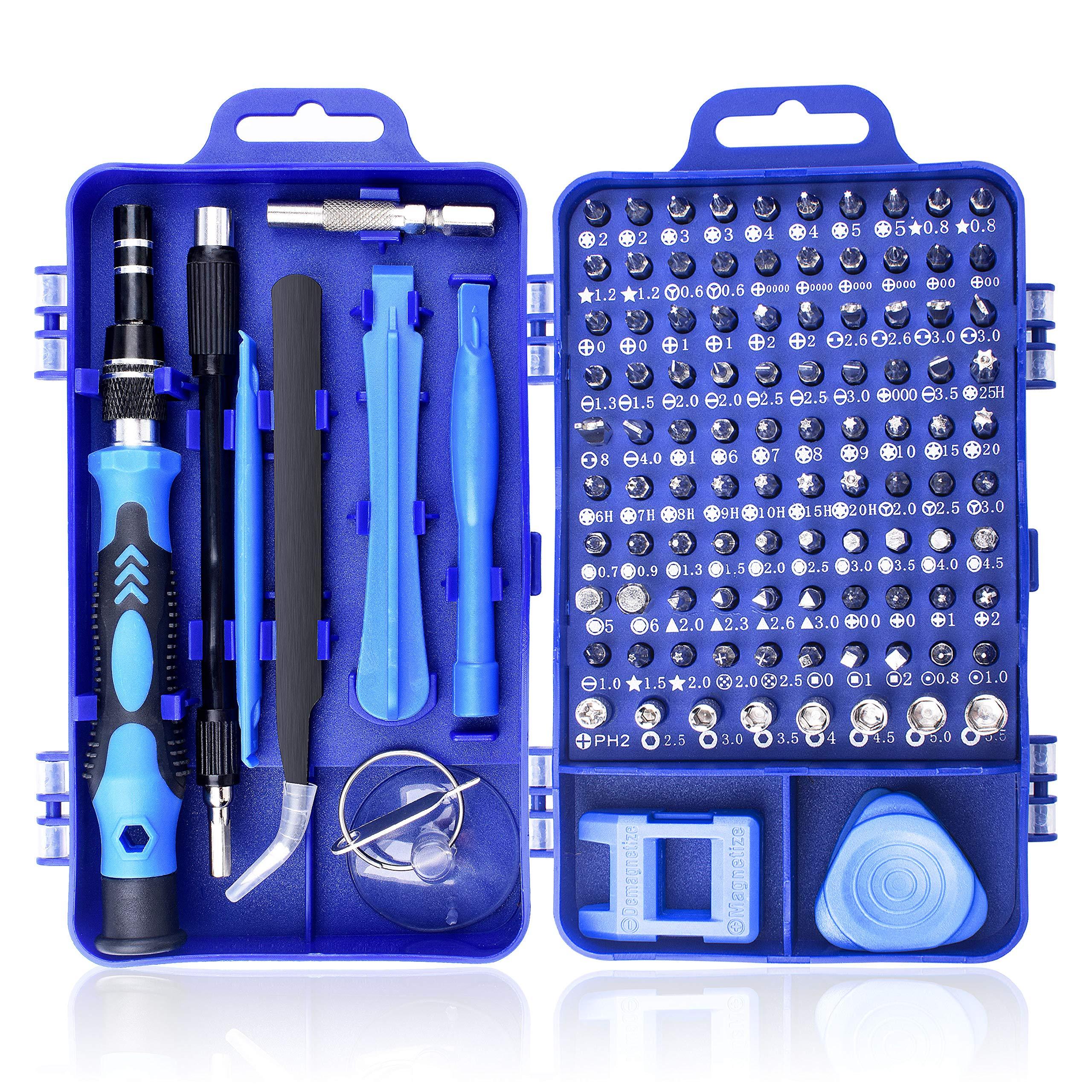 Juego de Destornilladores de Precisión, 115 en 1 Kit de Herramientas de Reparación de Destornilladores de Precisión con Magnética para iPhone, PC, Reloj, Portátil, Gafas, Electrónica, Joyería, etc.: Amazon.es: Bricolaje y herramientas