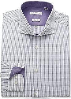 Men's Slim Fit Multi Colored Tatersol Cut Away Collar Dress Shirt