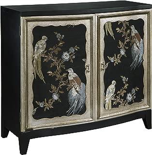 Pulaski  Old World Fabric Sewn Charlotte Bird Motif Accent Wine Cabinet, 40.3
