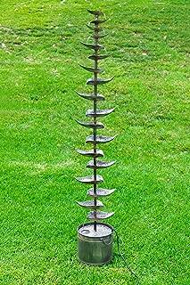 Alpine Corporation Metal Siler Tiered Floor Fountain - Indoor/Outdoor Water Fountain for Garden, Entryway, Patio, Yard