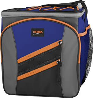 Thermos Highland 24 Can Cooler, Blue/Orange