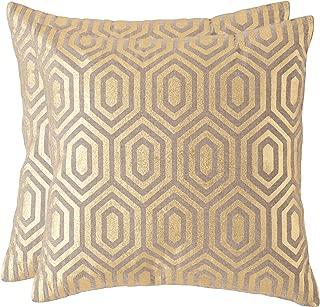 Safavieh Collection Harper Gold Throw Pillows (18