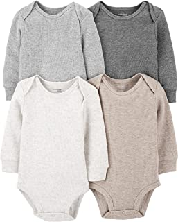 Baby 4-Pack Long-Sleeve Thermal Bodysuits