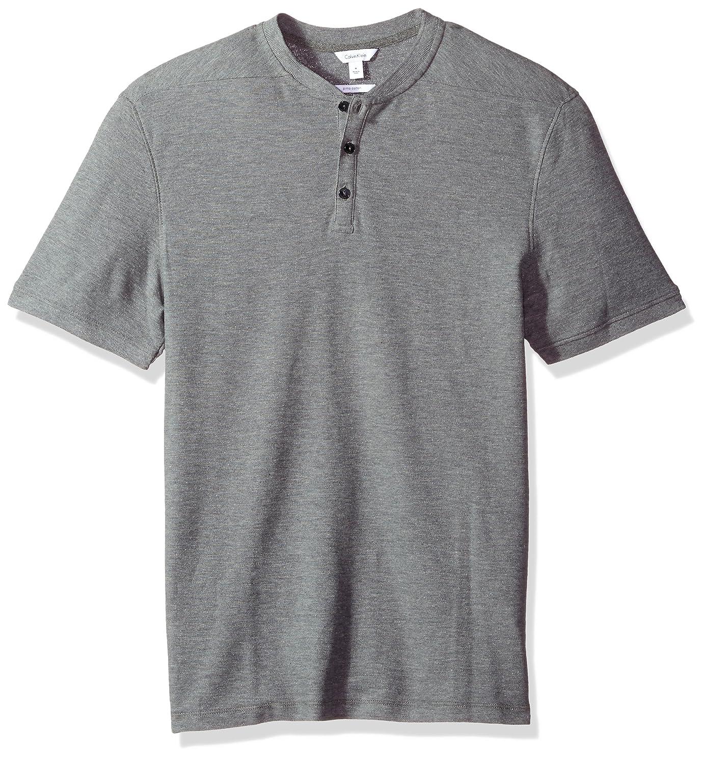 Calvin Klein Men's Short Sleeve Pique Cotton Polo Shirt