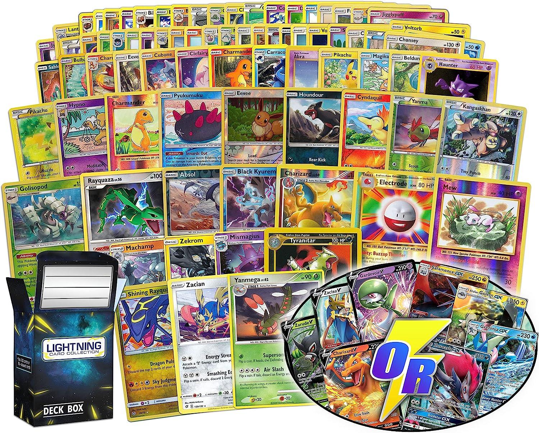 Ultimate Pokémon card bundle Fresno Mall 100+ random + cheap 100 5 cards fo cards=