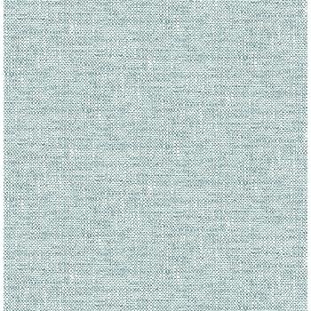 Nuwallpaper Nu2919 Aqua Poplin Texture Peel Stick Wallpaper Amazon Com