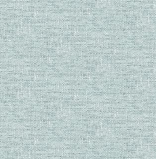 NuWallpaper NU2919 Aqua Poplin Texture Peel & Stick Wallpaper