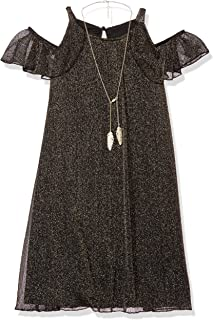Amy Byer Girls' Big Shimmer Aline Dress with Ruffle