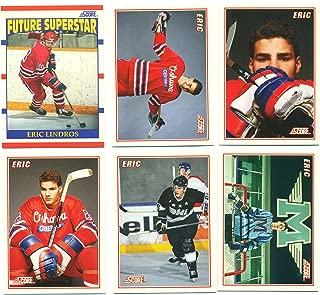 1990 Score Eric Lindros Rookie Card #440 'Future Superstar' plus sub-set B1-B5 Mint - Hockey Cards