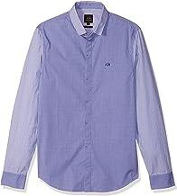A|X Armani Exchange Men's Mixed Stripe Long Sleeve Button Down Dress Shirt