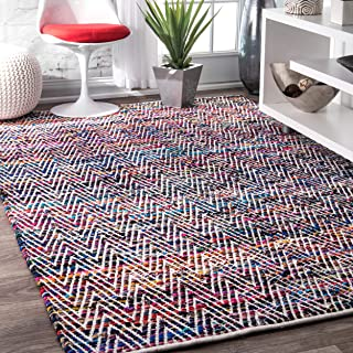 nuLOOM Rochell Handwoven Chevron Area Rug, 9' 6