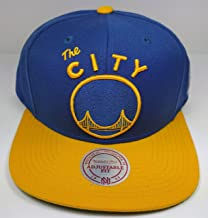Mitchell & Ness Golden State Warriors Vintage 2 Tone Solid Wool The City Snapback Hat NBA